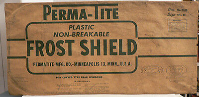 OLD VINTAGE AUTOMOBILE PERMA-TITE FROST SHIELD