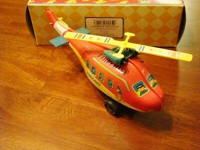 Russ Yesterday's Favorites Fire Cheif Helicopter Wind-up Toy NIB