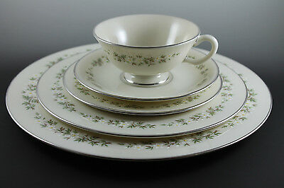 BROOKDALE LENOX CHINA 5 PC Place Setting Dinner Salad Bread Plate Cup Saucer