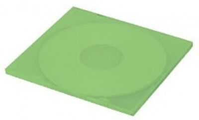 100 SLIM Green Color Single VCD PP Poly Cases 5MM