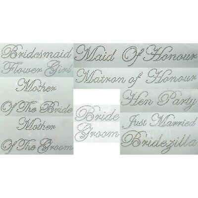 Wedding Iron On Transfers Rhinestones Bridal Accessories