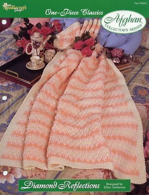 Cafe au Lait One-Piece Afghan TNS Crochet Pattern//Instructions Leaflet NEW