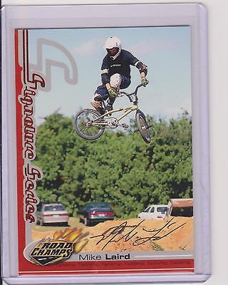 Rare 2000 Axs Road Champs Mike Laird Bmx Cycling Card ~ Signature Series