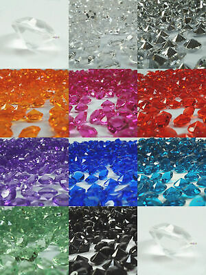 Crystal Diamond Confetti 10mm Wedding Acrylic Table Scatters Decorations