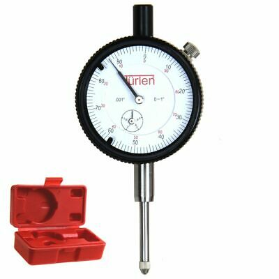 "Türlen 0.1/.001"" Dial Indicator AGD Precision Lug Back Machinist Inspection Tool"