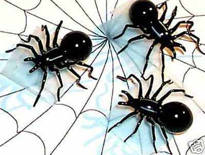 Spider MINI Size ArtGlass BLACK hand-crafted small VERSION 6 pc. lot