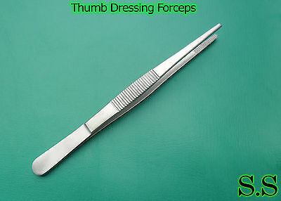 "1 Piece Of Thumb Dressing Forceps 5"" Serrated Teeth Surgical Instruments"