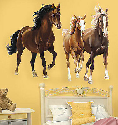 WALLIES HORSES wall stickers MURAL 2 HUGE decals pony farm animal mare colt