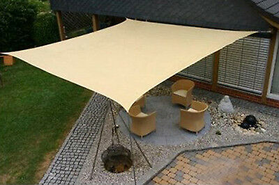 Maribelle 5.0m Square Sun Sail Shade Garden Patio Canopy With Ropes & Fittings