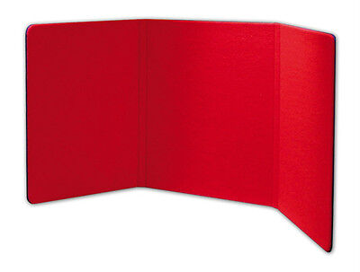 6 Foot Wide Tabletop 3-Fold Panel Red/black Color