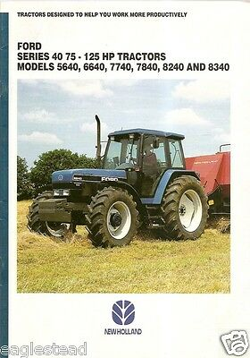 Farm Tractor Brochure - Ford New Holland - Series 40 - 5640 8340 etal 95 (F1125)