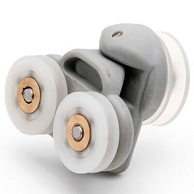 4 x Twin Spare Shower Door ROLLERS /Runners/Wheels 19mm grooved wheel L3
