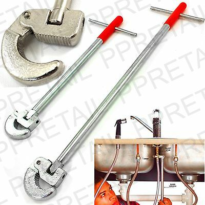 "11""/16"" LONG SELF ADJUSTABLE BASIN WRENCH Bath Kitchen Sink Tap Plumping Spanner"