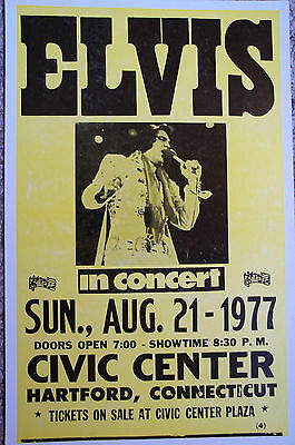 ELVIS in concert at the Civic Center in Hartford, CT Poster
