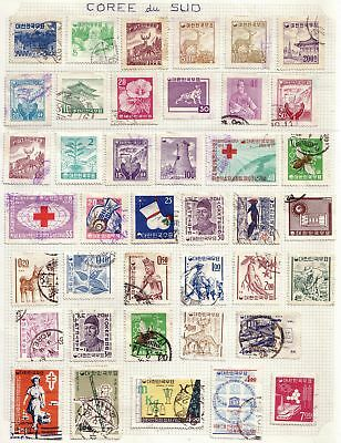 Korea Coree Collection 83 Timbres RARE Stamps Neuf Obl
