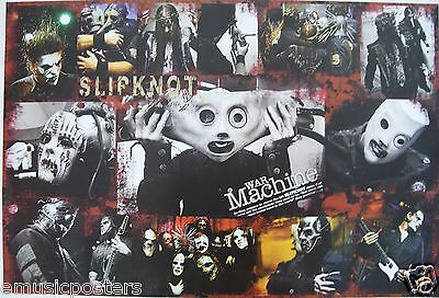 "SLIPKNOT ""WAR MACHINE"" POSTER FROM ASIA - Collage of Group Wearing Masks"