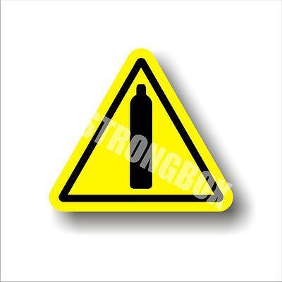 Industrial Safety Decal Sticker caution COMPRESSED GAS CYLINDERS  warning label