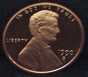 1990-S Proof Lincoln Memorial Penny - Deep Cameo!