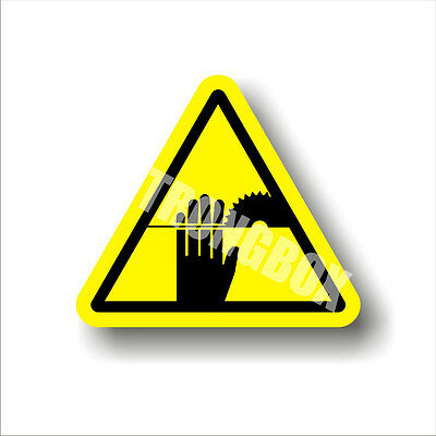 Industrial Safety Decal Sticker caution ROTATING BLADE - CUTTING warning label