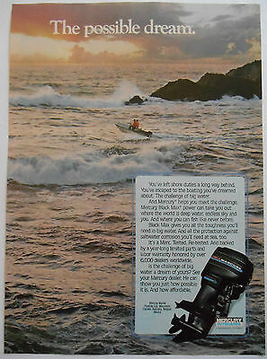 1983 original boating AD Mercury Outboard Motors 'The Possible Dream'
