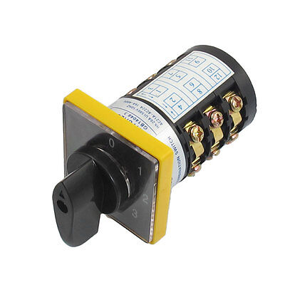 AC 500V 20A Latching 12 Terminals 7 Position Cam Combination Changeover Switch