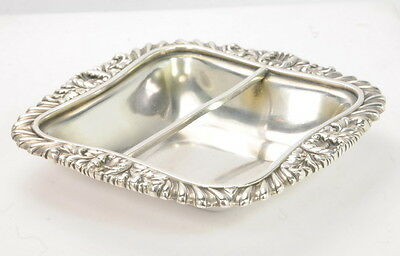 Tiffany & Co Antique Electroplated Silver Ashtray Dish With Bar
