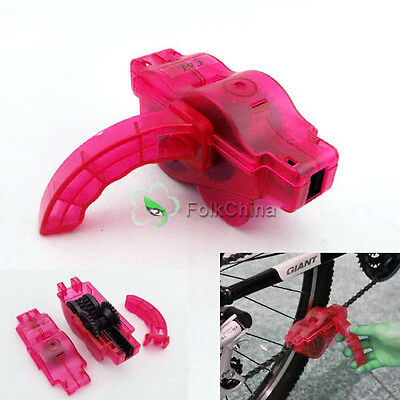 Bike Bicycle Cycling 3D Chain Cleaner Machine Scrubber Brushes Clean Tool Kit