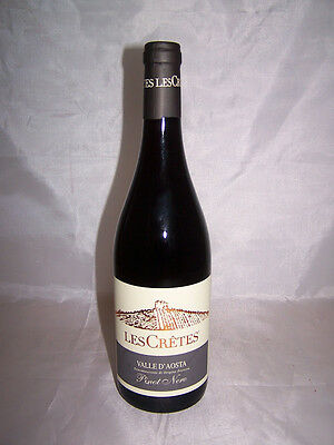 Pinot Nero 75 cl Les Cretes 2012 Rosso Valle D'aosta Dop
