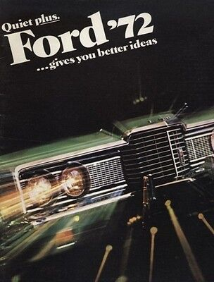 1972 Ford LTD Galaxie Original Dealer Sales Brochure Catalog J0314