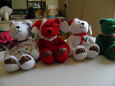 Limited Treasures Holiday 1998  Edition Bears Set Of 4