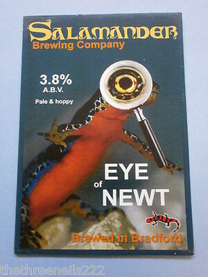 Beer Pump Clip - Salamander Eye Of Newt