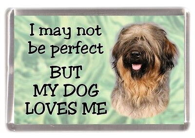 "Briard Dog No. 1. Fridge Magnet ""I may not be perfect BUT ....."" by Starprint"