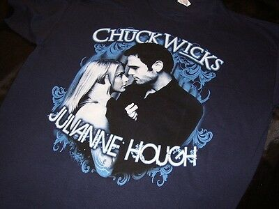 Julianne Hough & Chuck Wicks *Two Adult Medium Dancing With The Stars Shirts!