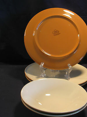 Iroquois Accent Orange Mid Century Modern 3 Dinner & 2 Soups Seibel 1958-1973