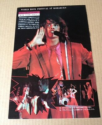 1975 The New York Dolls in JAPAN mag photo pinup / clippings cuttings