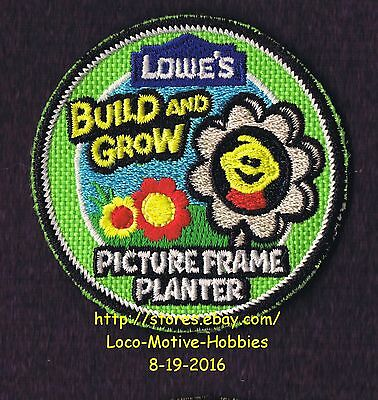 LMH Patch  2012 PICTURE FRAME PLANTER  Flower LOWES Build Grow Kids Clinic