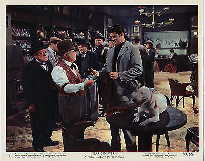BULL TERRIER/BAR SINISTER original 1955 movie lobby color still JEFF RICHARDS