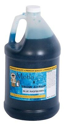 Motla Blue Raspberry Snow Cone Syrup (One Gallon)