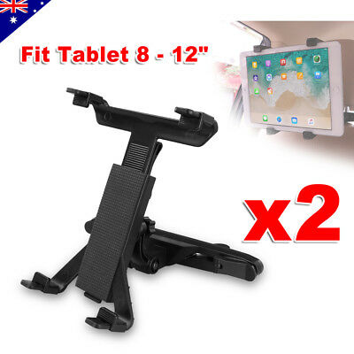 2x Adjustable Car Seat Headrest Mount Holder Stand For iPad Samsung Tablet 8-12""
