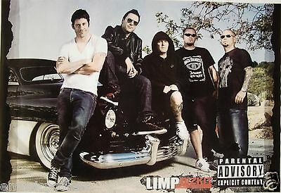 "LIMP BIZKIT ""GROUP SHOT BY CLASSIC 50's CAR"" POSTER FROM ASIA - Fred Durst & Co."