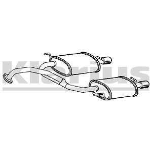 Hyundai Coupe 2.0 02-09 Rear Exhaust Silencer Back Boxes Twin L/H & R/H