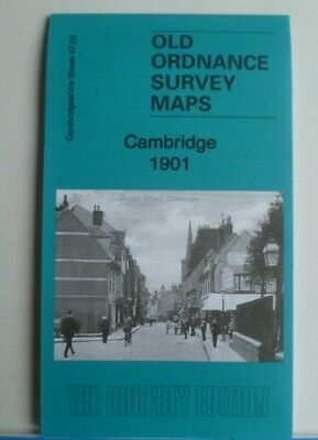 Old Ordnance Survey Detailed Maps Cambridge Cambridgeshire 1901 Godfrey Edition