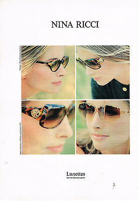 PUBLICITE ADVERTISING  1993    NINA RICCI  collection lunettes