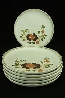 Lot of 6 Denby Serenade Older Version Pattern Dessert Entree Salad Plates 20cm