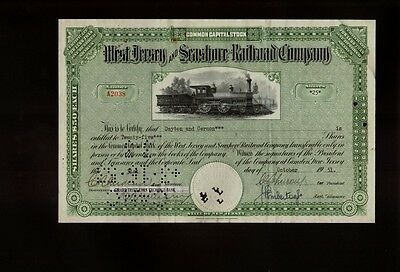 West Jersey and Seashore Railroad Company 1951 iss to Dayton & Gernon