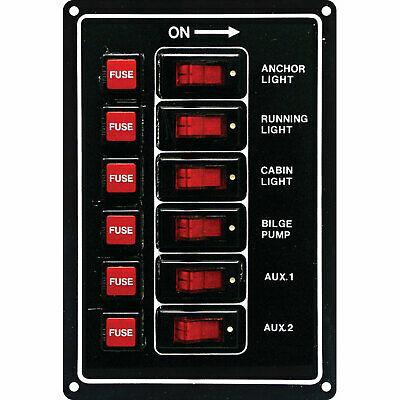 6 SWITCH PANEL / BOAT / MARINE / RV / Caravan ✱NEW✱ 12V Navigation Stern lights