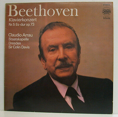 5 <b>CLAUDIO ARRAU</b> SIR COLIN DAVIS DRESDEN LP (e872) - BEETHOVEN-KLAVIERKONZERT-NR-5-CLAUDIO-ARRAU-SIR-COLIN