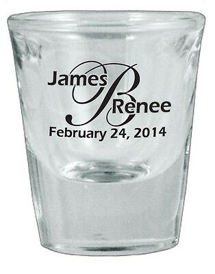 48 PERSONALIZED Glass Wedding Favors Shot Glasses NEW 2014 Designs
