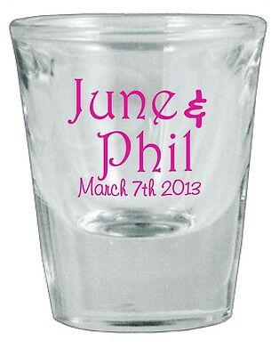72 PERSONALIZED Glass Wedding Favor Shot Glasses NEW 2014 Designs