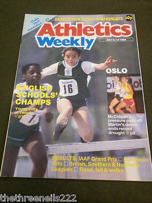 Athletics Weekly - English Schools Championships - July 8 1988